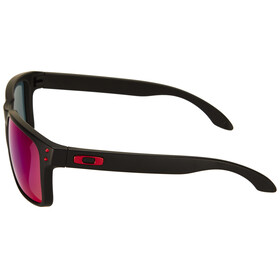 Oakley Holbrook matte black/positive red iridium